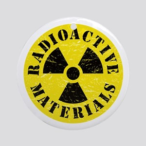 Radioactive Materials Round Ornament