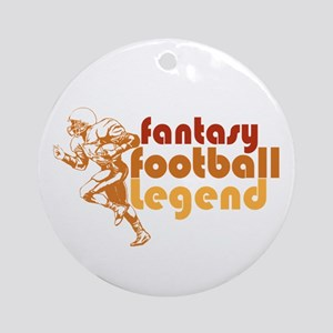 Retro Fantasy Football Legend Ornament (Round)