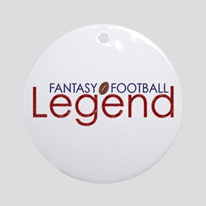 Fantasy Football Legend Ornament (Round)