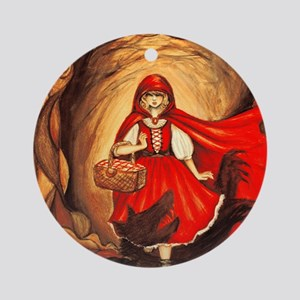 RedRidingHood2 Round Ornament