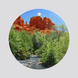 Cathedral Rock Round Ornament