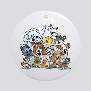Thank You Dogs & Cats Ornament (Round)