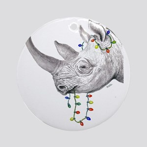 rhinolights Round Ornament