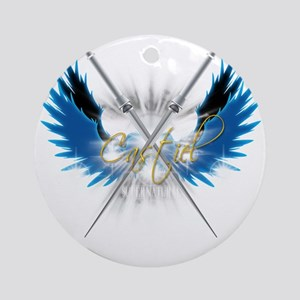 Supernatural Castiel Angel Sword 21 Round Ornament