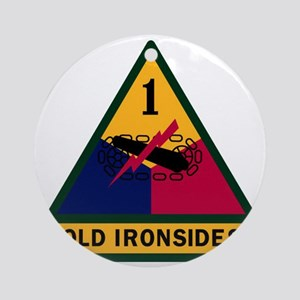 1st Armored Division Round Ornament