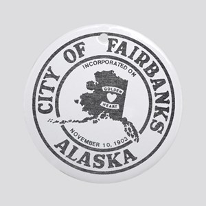 Vintage Fairbanks Alaska Ornament (Round)