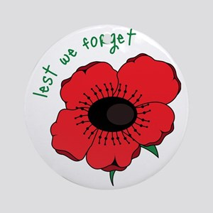 Lest We Forget Round Ornament
