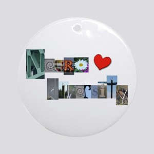 Celebrate Neurodiversity Ornament (round)