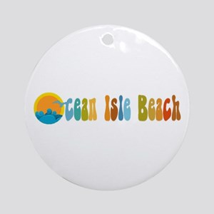 Ocean Isle Beach NC Ornament (Round)