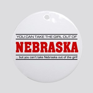 'Girl From Nebraska' Ornament (Round)