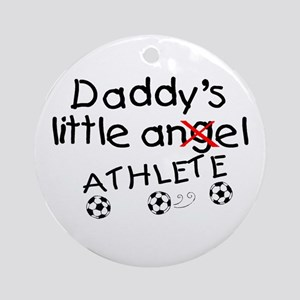 Daddy's Little Athlete (Soccer) Ornament (Round)