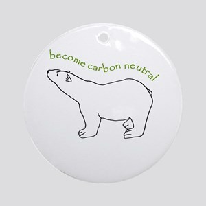 Become Carbon Neutral round ornament