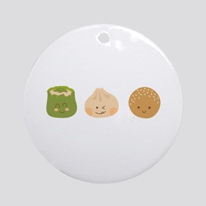 Dim Sum Border Ornament (Round)