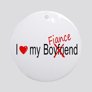 I Love My Fiance Ornament (Round)