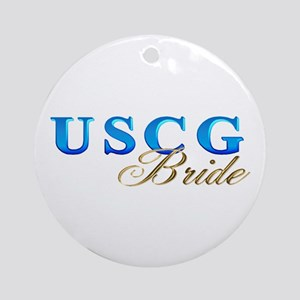 USCG Bride Ornament (Round)