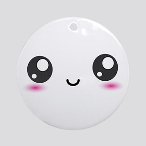 Japanese Anime Smiley Ornament (Round)