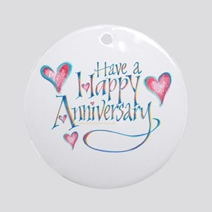 Happy Anniversary Keepsake (Round)