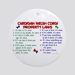 Cardigan Welsh Corgi Property Laws 2 Ornament (Rou