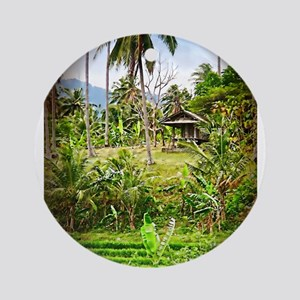 Balinese Farm Ornament (Round)