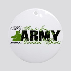 Son Law Combat Boots - ARMY Ornament (Round)