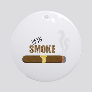 Up in Smoke Ornament (Round)