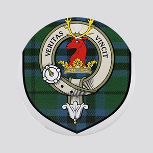 Marshall Clan Crest Tartan Ornament (Round)