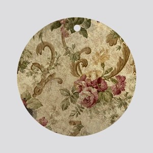 Old Fashioned Flower Design Round Ornament