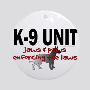 K9 UNIT: Jaws & Paws Ornament (Round)