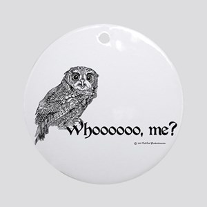 Who Owl Round Ornament