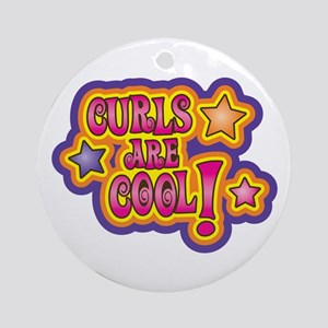Curls Are Cool! Ornament (Round)