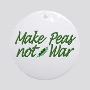 Make Peas not War Ornament (Round)