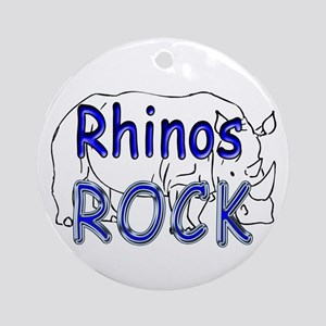 Rhinos Rock Ornament (Round)