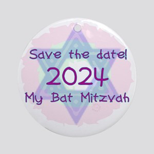 save_the_date_2024 Round Ornament