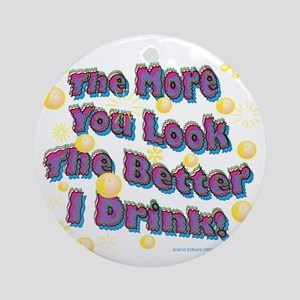 You Look dark tee Round Ornament