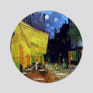 Cafe Terrace at Night by Van Gogh Round Ornament