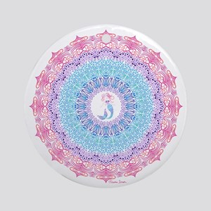 Tribal Mermaid Mandala Round Ornament