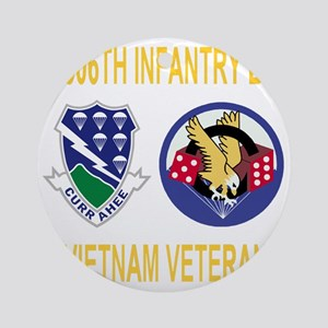 4-Army-506th-Infantry-1-506th-Vietn Round Ornament