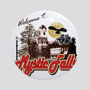 Welcome to Mystic Falls Round Ornament