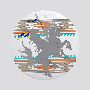 INDIAN ON HORSE Ornament (Round)