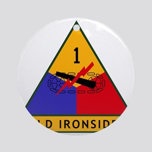 1st_US_Armored_Division_SSI Round Ornament