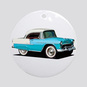 BabyAmericanMuscleCar_55BelR_Skyblue Ornament (Rou
