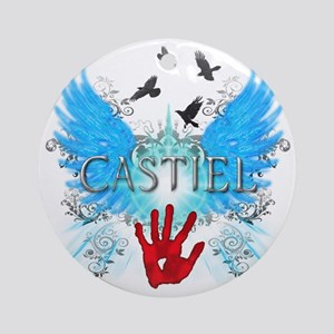 New Castiel 2 Wings Vector Round Ornament