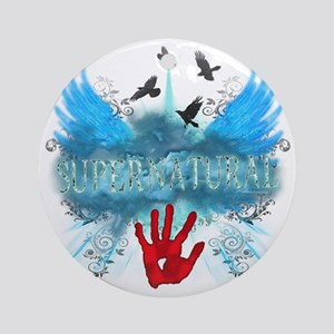 Supernatural Wings Vector Round Ornament