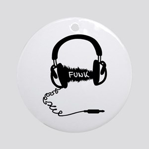 Headphones Headphones Audio Wave Mo Round Ornament