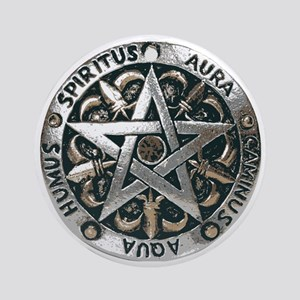 wiccan pentagram 2 Round Ornament
