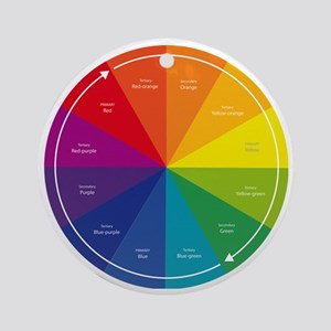 The Color Wheel Round Ornament
