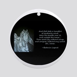 Legend of the Horse Round Ornament
