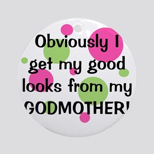 obviously_godmother_girl Round Ornament