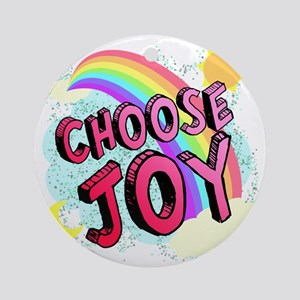 Choose Joy Large Round Ornament