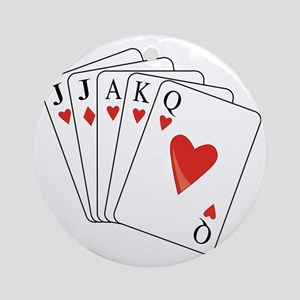 Euchre Playing Cards Round Ornament
